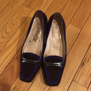 Tod's drivers with kitten heel size 6.5